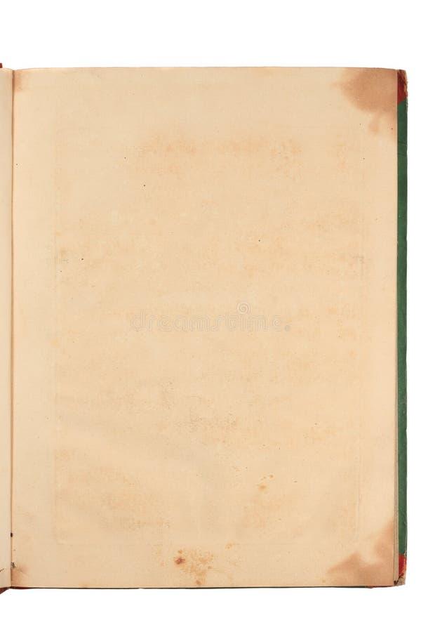 Pagina di Grunge di vecchio libro immagini stock
