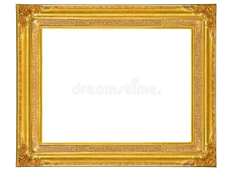 Pagina di legno dorata isolata della foto fotografie stock libere da diritti