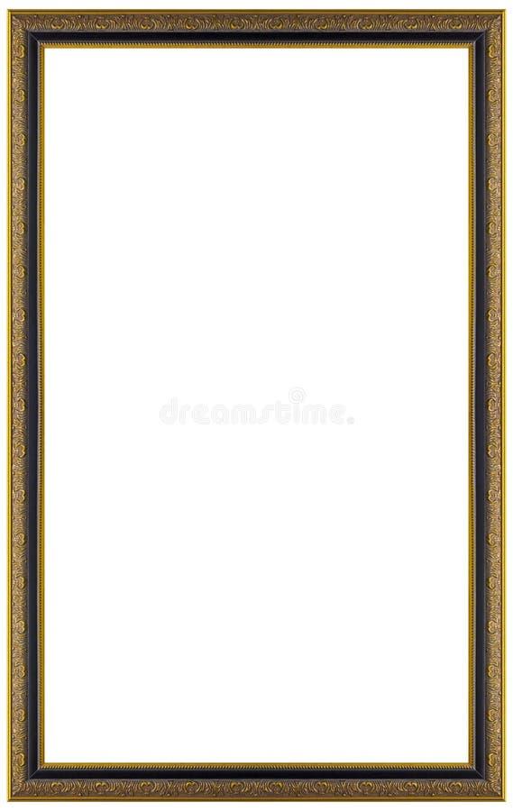 Pagina di legno dorata rettangolare isolata su bianco immagine stock libera da diritti