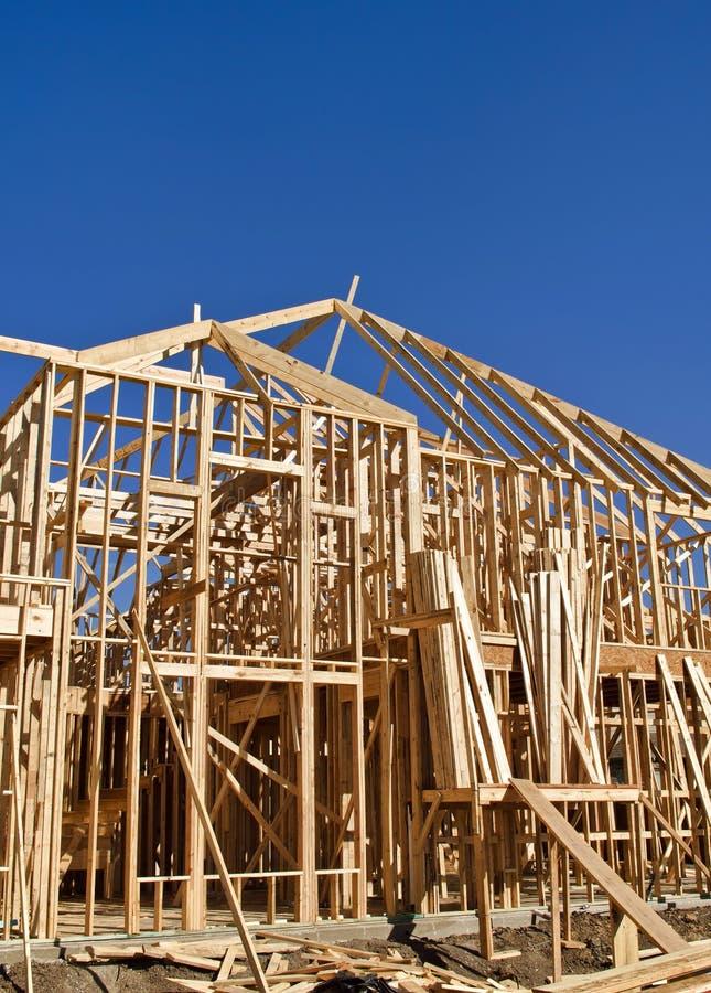 Pagina di nuova costruzione domestica fotografie stock