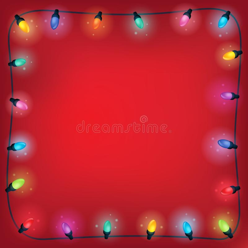 Pagina 1 di tema delle luci di Natale illustrazione vettoriale