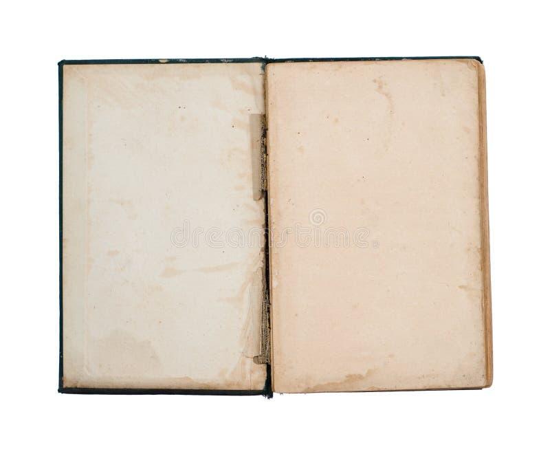 Pagina di titolo vuota di vecchio libro immagini stock