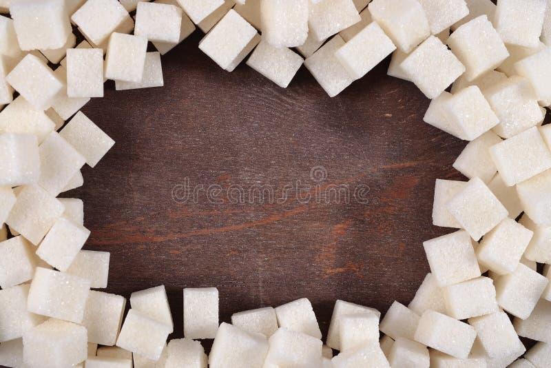 Pagina di zucchero raffinato immagine stock