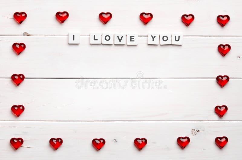 Pagina e ti amo su fondo di legno immagine stock libera da diritti