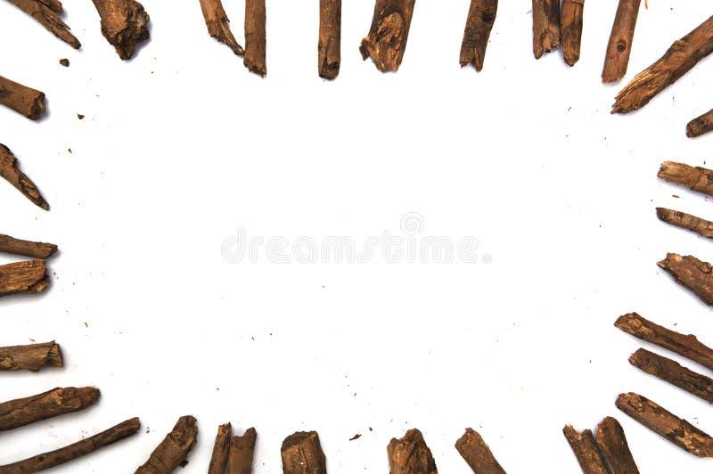 Pagina fatta con i ramoscelli asciutti dell'albero immagine stock