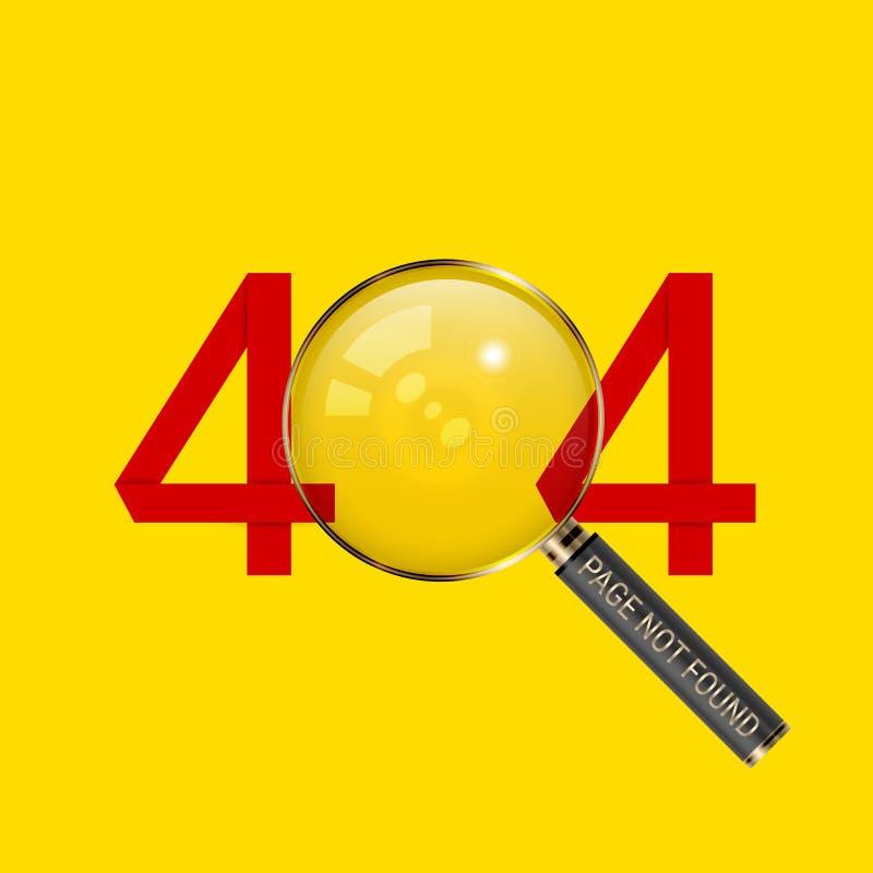 404 pagina gevonden niet ontwerpmalplaatje het concept van de 404 foutenpagina Verbinding met Onbestaand Domein Vector illustrati stock illustratie