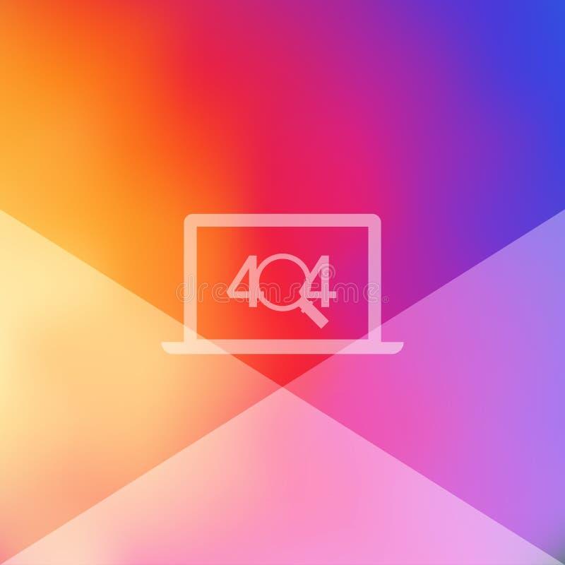 404 pagina gevonden niet ontwerpmalplaatje Open Laptop, Magnifier het concept van de 404 foutenpagina Vector illustratie vector illustratie