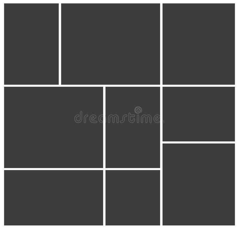 Pagina il collage della foto royalty illustrazione gratis