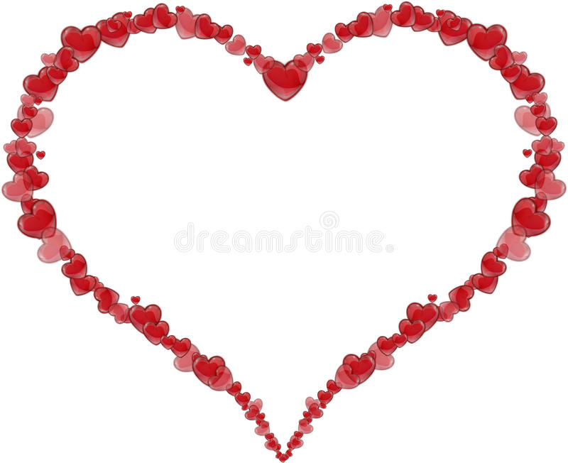 Pagina il cuore fatto dei cuori per un San Valentino o una festa della Mamma illustrazione vettoriale