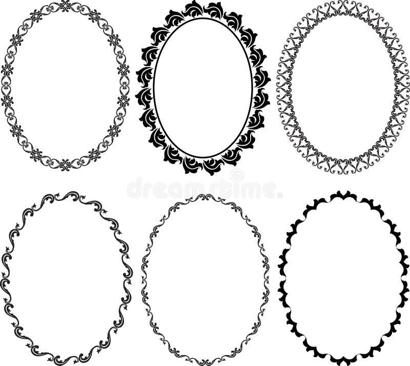 Pagina l'ovale illustrazione di stock