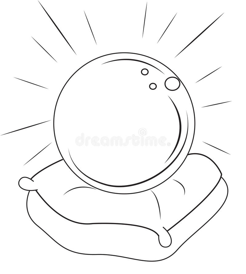 crystal ball coloring pages | Pagina Magica Di Coloritura Della Palla Illustrazione di ...