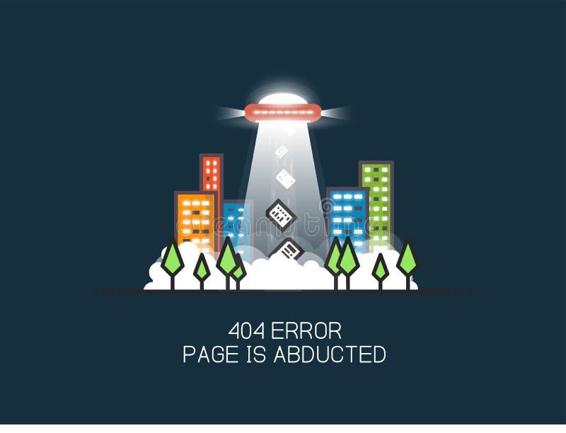 Pagina mancante del UFO illustrazione di stock