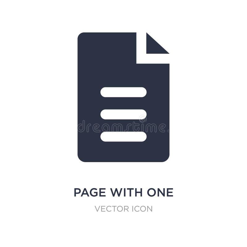 pagina met één gekruld hoekpictogram op witte achtergrond Eenvoudige elementenillustratie van UI-concept vector illustratie