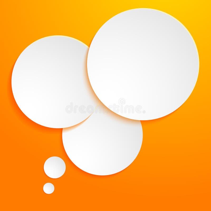 Pagina-modello-presentazione-punto-opzione-in bianco-gamma illustrazione di stock