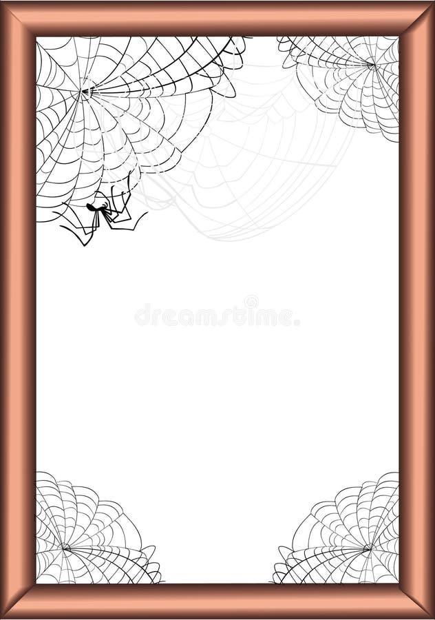 Pagina nei Web di ragno illustrazione di stock