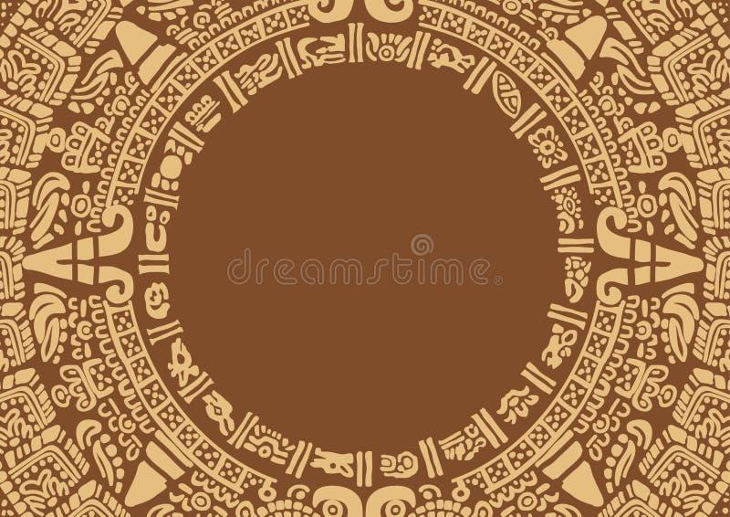 Pagina nello stile delle civilizzazioni antiche royalty illustrazione gratis