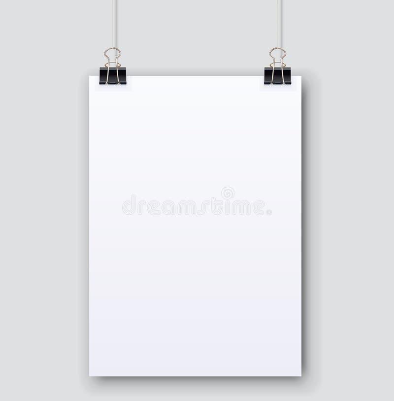 Pagina normale in bianco del Libro Bianco con ombra illustrazione vettoriale