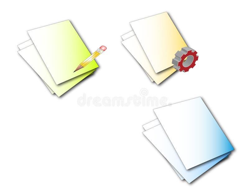 Pagina o ícone ilustração stock