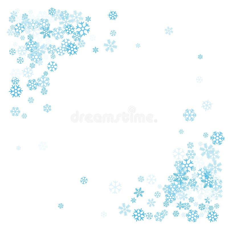 Pagina o confine dei fiocchi di neve casuali dello spargimento illustrazione vettoriale