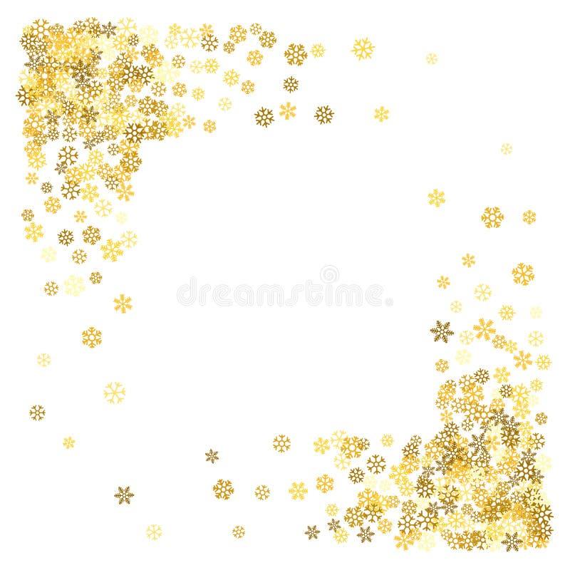 Download Pagina O Confine Dei Fiocchi Di Neve Casuali Dello Spargimento Illustrazione Vettoriale - Illustrazione di decorativo, natale: 117978485