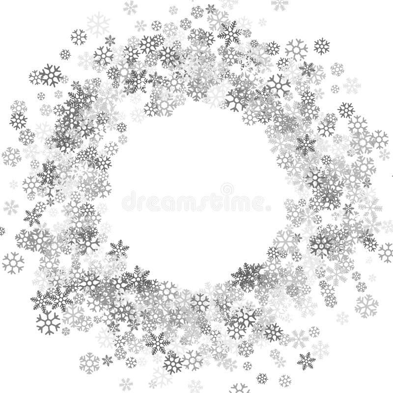 Pagina o confine dei fiocchi di neve casuali dello spargimento illustrazione di stock
