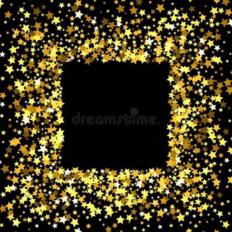 Pagina o confine delle stelle illustrazione vettoriale