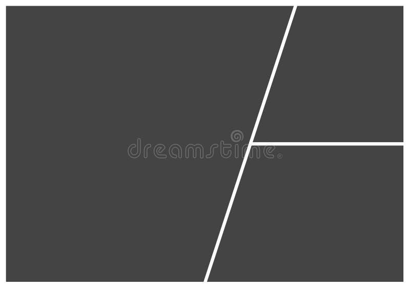 Pagina per il collage della foto o l'illustrazione di vettore dell'immagine mascherina royalty illustrazione gratis