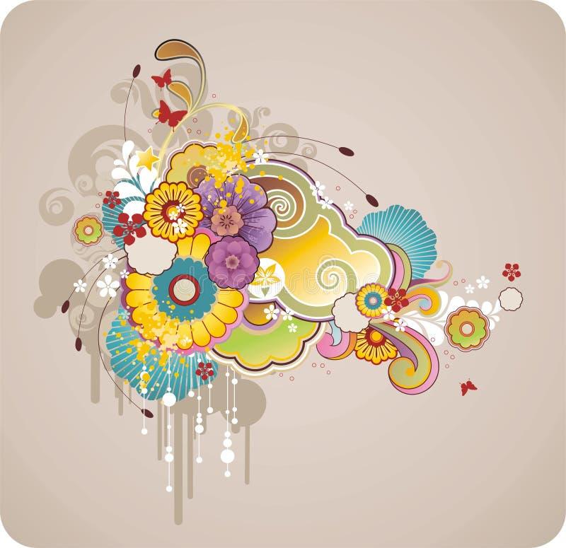 Pagina per testo con l'ornamento floreale illustrazione vettoriale