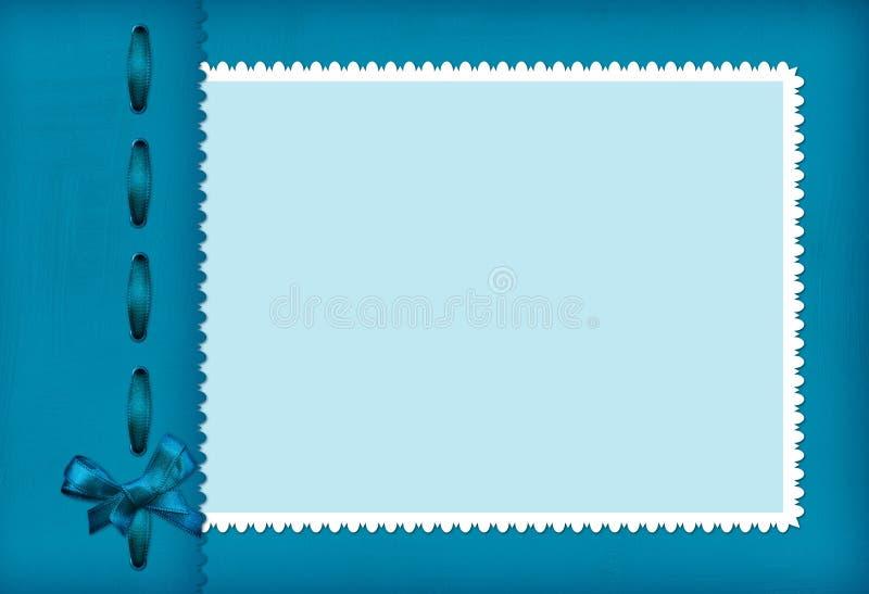 Pagina per una foto con l'arco illustrazione vettoriale