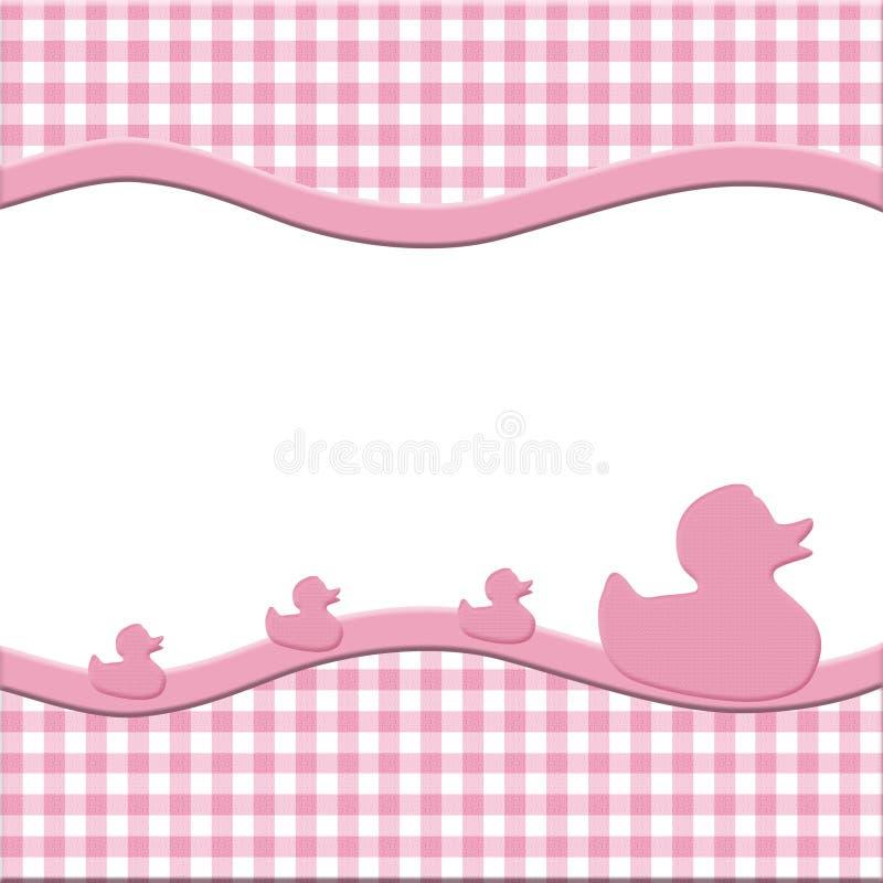 Pagina rosa e bianca del bambino per il vostro messaggio royalty illustrazione gratis