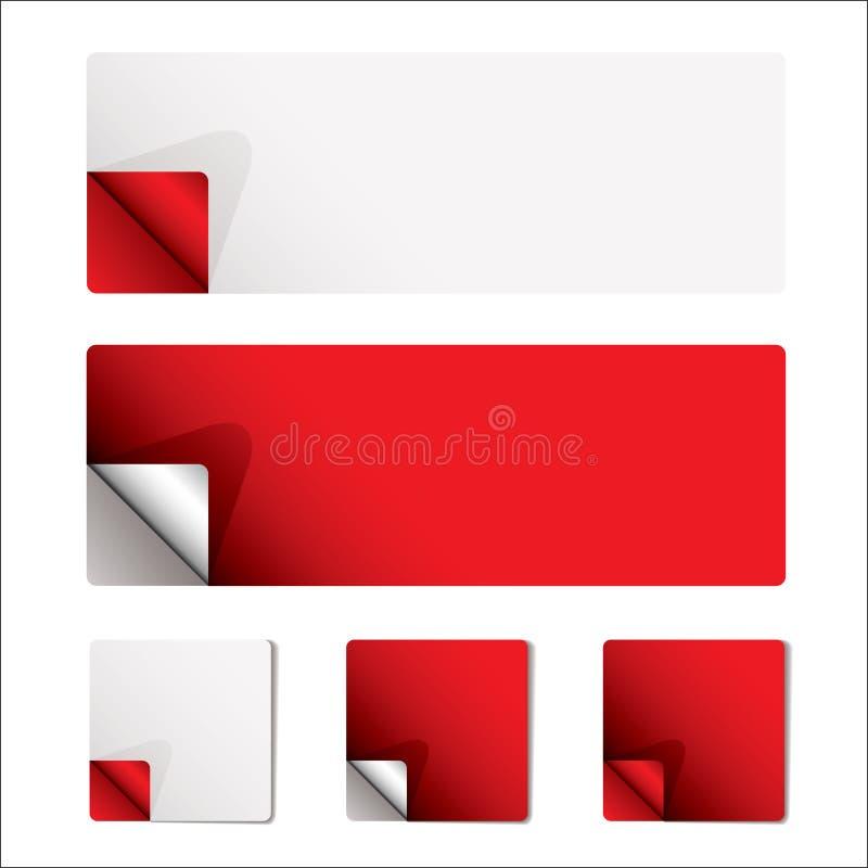 Pagina rossa dell'arricciatura illustrazione di stock