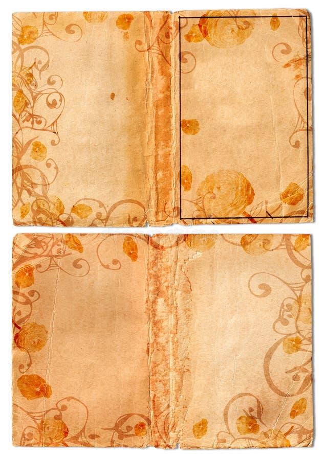 Pagina's van het de wervelingsboek van Grunge de open stock illustratie
