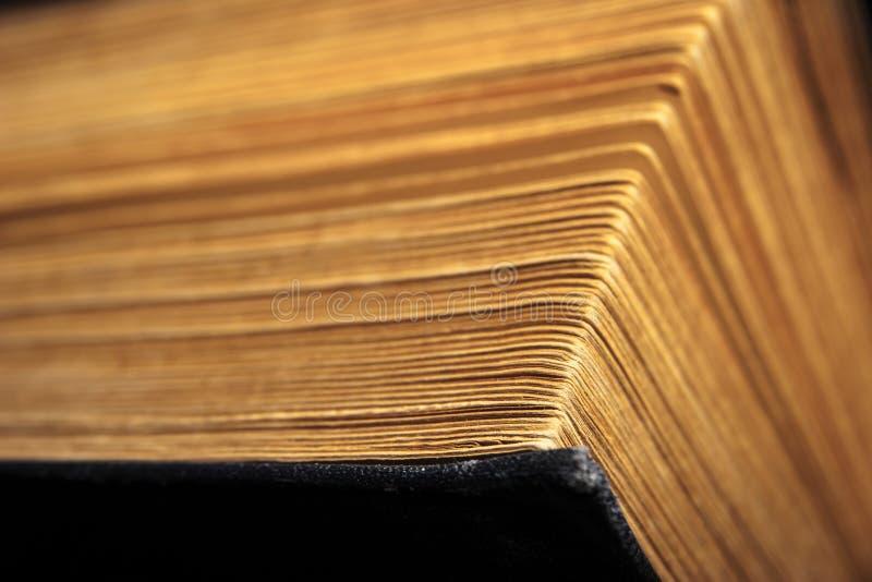 Pagina's van het oude boek stock foto's
