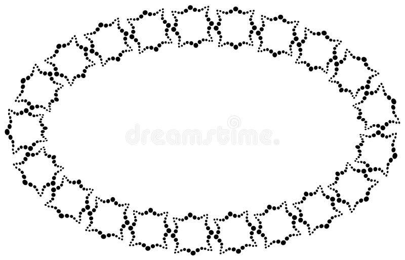 Pagina sotto forma di un ovale fatto degli elementi decorativi nel colore nero royalty illustrazione gratis