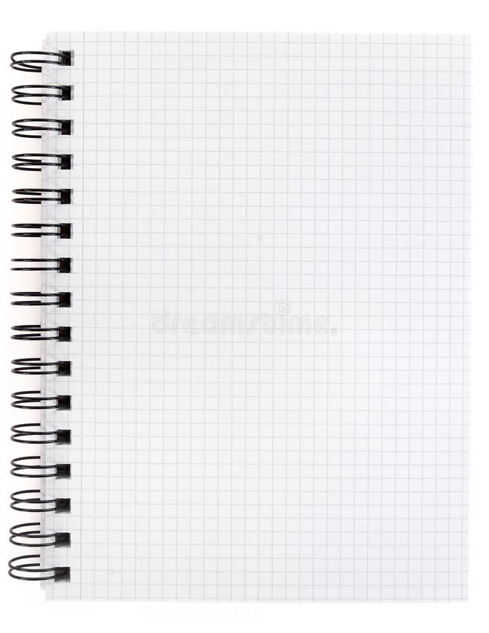 Pagina in una spirale - blocchetto per appunti rilegato fotografia stock libera da diritti