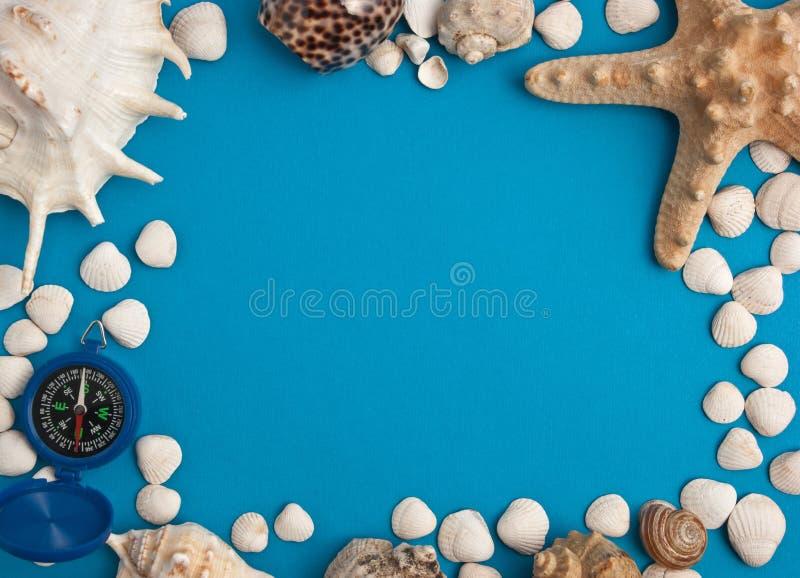 Pagina in uno stile marino fotografie stock libere da diritti