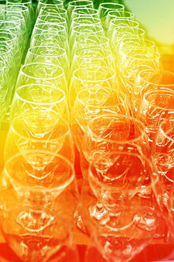 Pagina van Abstracte het Drinken Glazen royalty-vrije stock fotografie