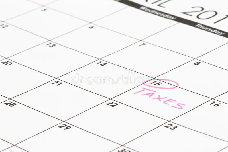 Pagina van de kalender concentreerde zich op 15 royalty-vrije stock afbeeldingen