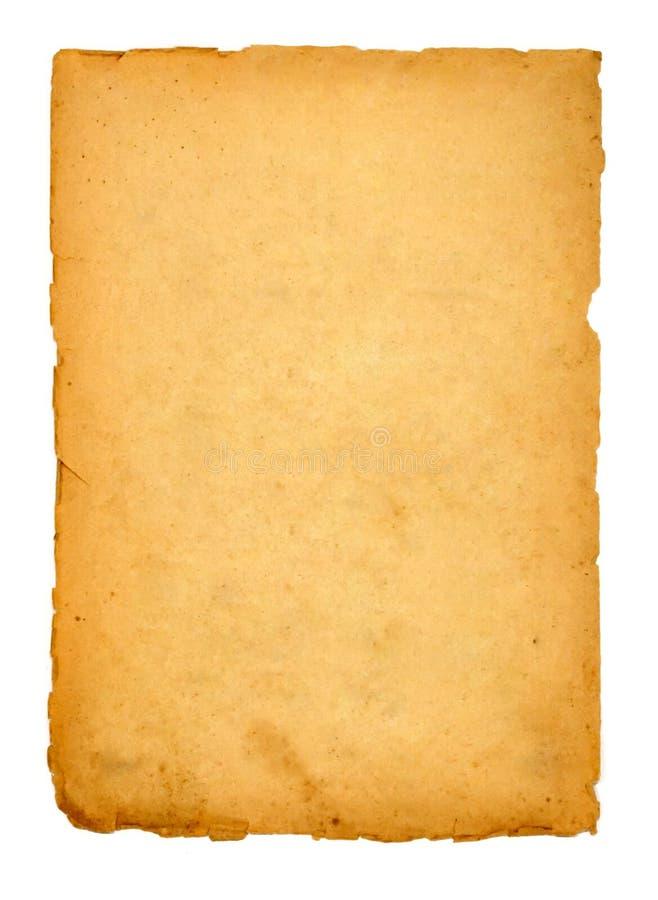 Pagina van het oude boek op wit royalty-vrije stock afbeeldingen