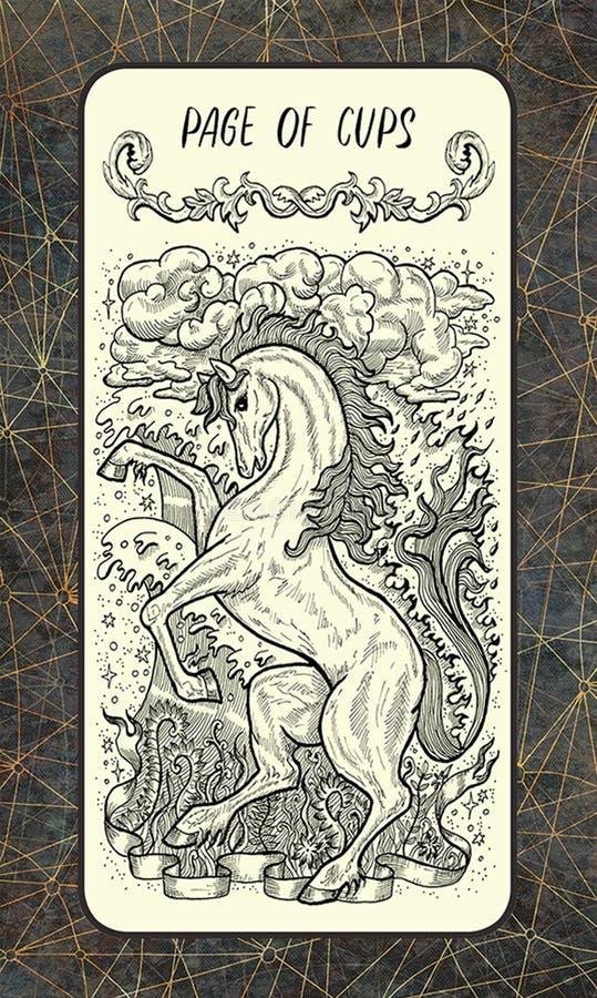 Pagina van koppen Minder belangrijke Arcana-Tarotkaart vector illustratie