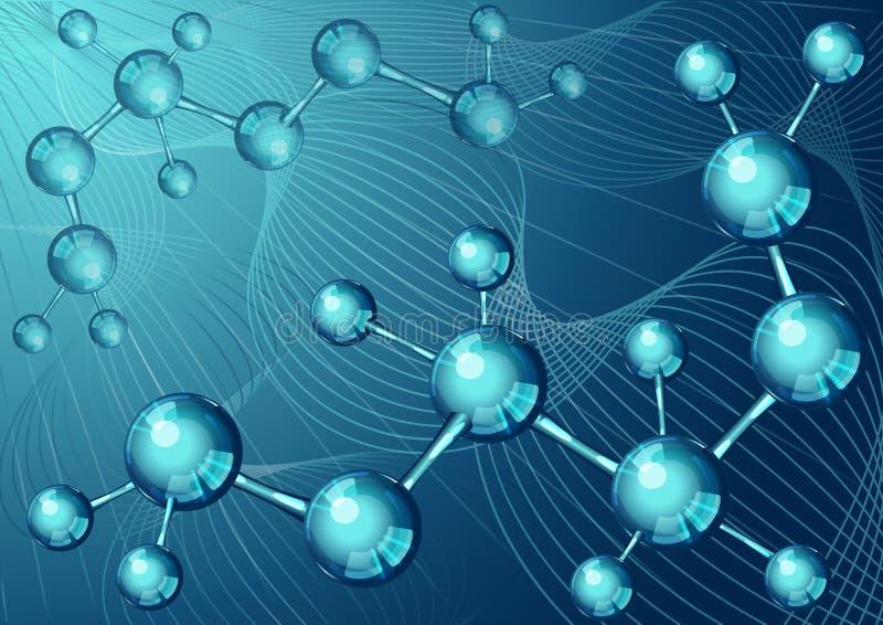 Pagina 5 van Model 10 voor infographic met blauwe moleculaire structuur stock illustratie