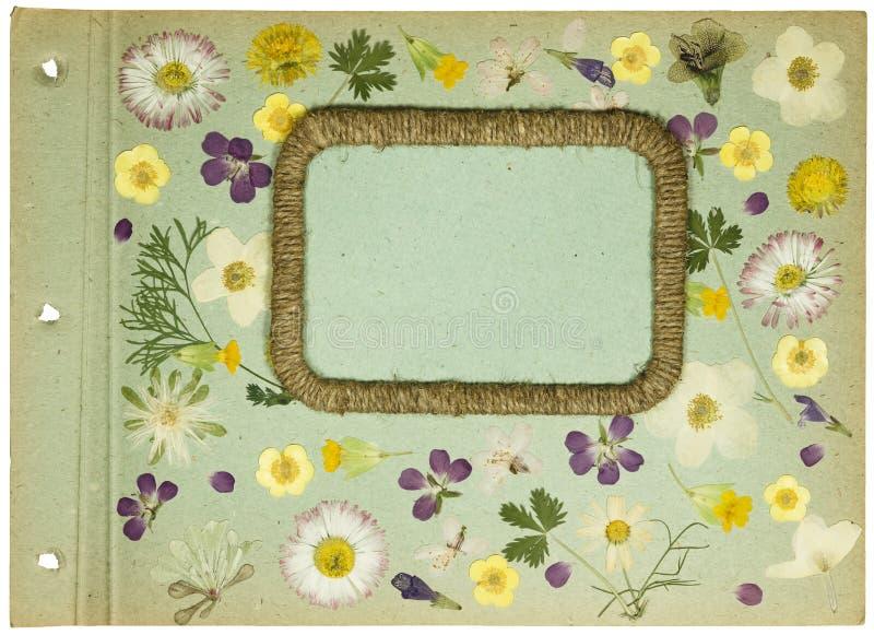 Pagina van oud fotoalbum, scrapbooking element royalty-vrije stock afbeelding