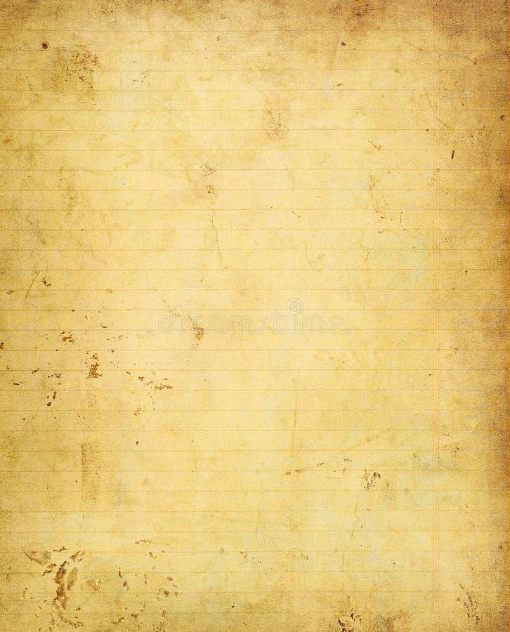 Pagina van oud grungenotitieboekje royalty-vrije illustratie