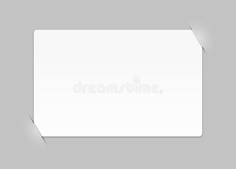 Pagina vuota composita illustrazione di stock