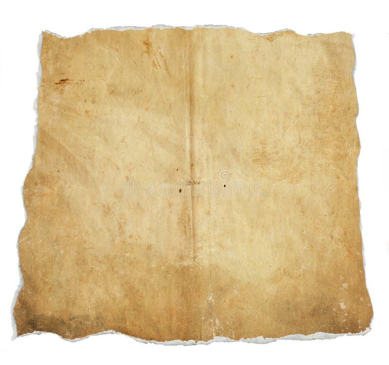 Pagina vuota della carta di lerciume con i bordi irregolari fotografie stock libere da diritti