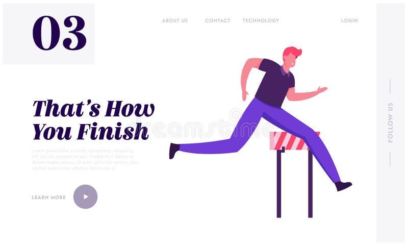 Pagina Web dedicata alla leadership aziendale sulla sfida della concorrenza Esecuzione caratteri di un uomo business leader riusc royalty illustrazione gratis