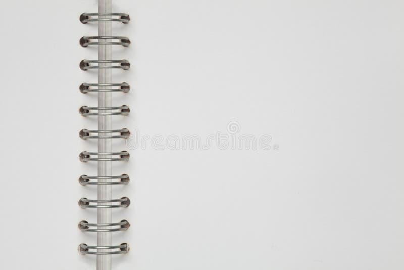 Paginación blanca del cuaderno fotos de archivo libres de regalías