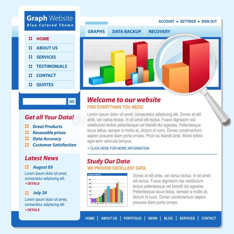 Paginación de Internet de la tecnología del Web de la carta del gráfico stock de ilustración