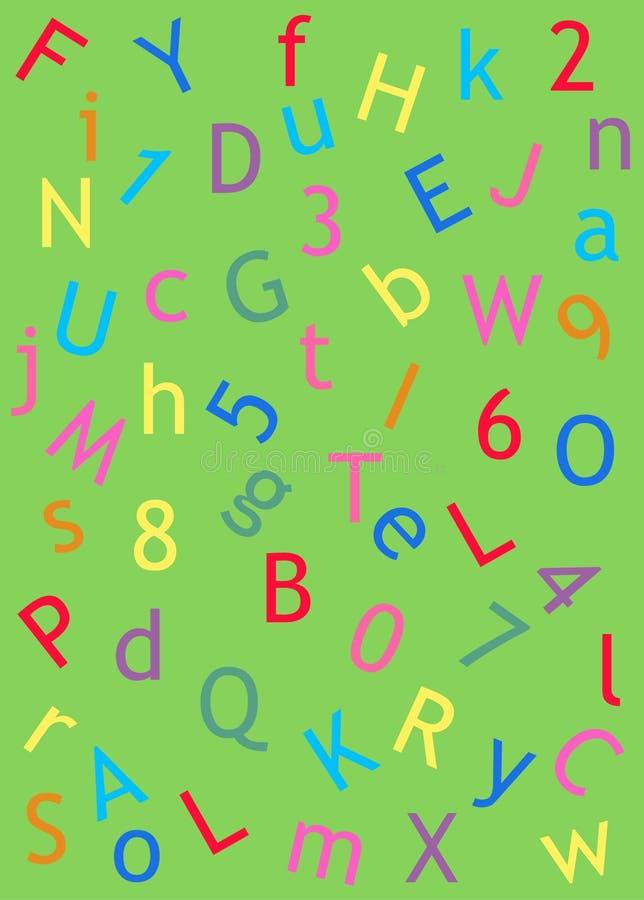 Paginación de la carta y del número ilustración del vector