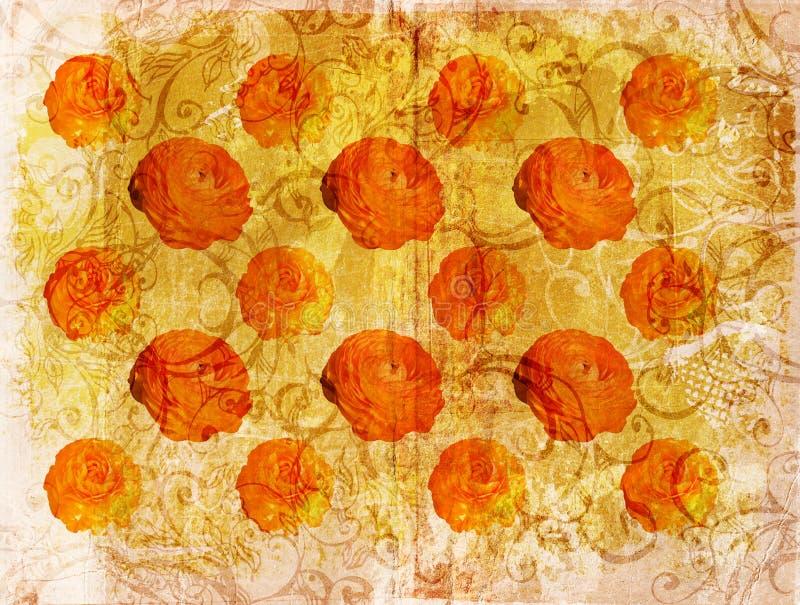 Paginación de la flor de Grunge stock de ilustración